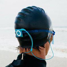 Waterfi Waterproofed iPod Shuffle at the beach