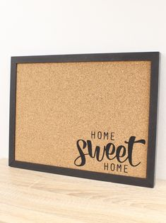 Memoboard Design Art, Framed Cork Board, quote print poster, new home print, Home Sweet Home, lettering sign gift, house warming gifts, black decor print, horizontal wallart, Graphic Poster Print, noticeboard kitchen, wall decor hanging, pinboardone Memo Boards, Cork Boards, Sweet Home, Home Quotes And Sayings, Black Letter, New Home Gifts, Lettering, Letter Art, Black Decor
