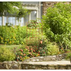 Garden Treasures 24 In W X 72 In H Red Garden Trellis 89496L