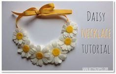 What flower says summer better than a daisy? Make this darling Felt daisy necklace with the help of Jess of bettyoctopus. This necklace will dress up a simple tee or dress. Jess lives in Limeric…