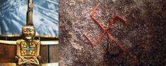 Viking Symbols and Norse Symbols in North Mythology Viking Symbols And Meanings, Wiccan Symbols, Mayan Symbols, Egyptian Symbols, Celtic Symbols, Ancient Symbols, Celtic Wolf Tattoo, Celtic Tattoos, Viking Tattoos