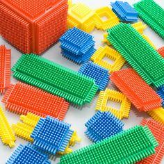 Playskool Bristle Blocks..i can still feel these in my hand!