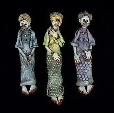Three Graces, by Dee Schaad.  Lesson Plan available at  http://ceramicartsdaily.org/education/action-figures/