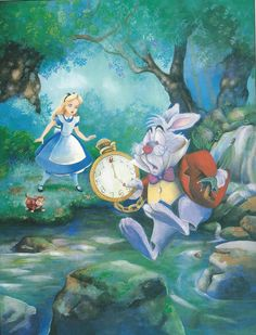 Franc Maleu and Holly Hannon's illustrations for Teddy Slater's 1995 Illustrated Classic adaptation of Walt Disney's Alice in Wonderland