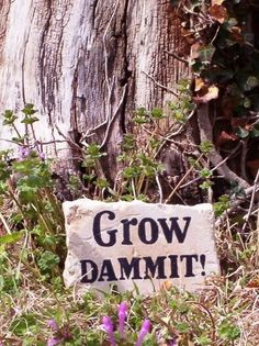 Give your garden a little encouragement this Spring with this charming hand painted natural stone block. This simple statement is sure to make the flowers bloom and and your visitors chuckle - what a humorous way to show your love of gardening! Makes a cute gift for anyone with a flower bed, even...
