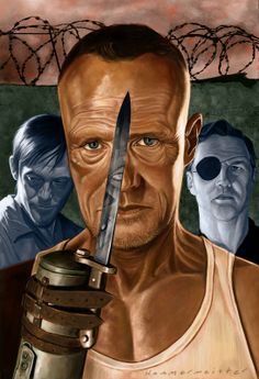 Merle Dixon on Behance - digital painting by Mark Hammermeister #Art #WalkingDead