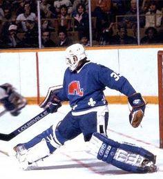 Quebec Nordiques Goalie | Québec Nordiques goaltending history : Daniel Bouchard Goalie Gear, Goalie Mask, Hockey Goalie, Hockey Games, Ice Hockey, Nhl, Quebec Nordiques, New Jersey Devils, National Hockey League