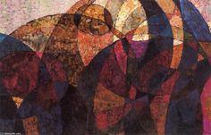 Frantisek Kupka - Etude pour Amorpha,  fugue à deux couleurs (Centre Pompidou - Paris)