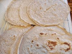 """""""Buckwheat Pancakes, Crepes and Wraps GF"""" with: gluten-Free buckwheat flour (light version used in this recipe), water or almond/allowed milk, olive/allowed oil, baking powder (optional but helps it to rise a little), salt. Gluten-free #LEAPbread"""