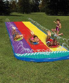 Triple Racer backyard water fun for kids!
