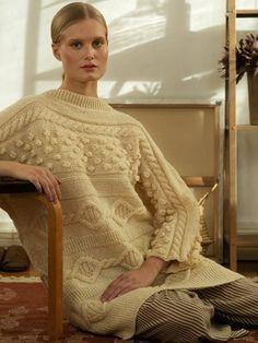 Women's sideways tunic Novita Nordic Wool Tunic Sweater, Sweater Outfits, Bind Off, Crochet Books, Stockinette, Tunic Tops, Beige, Pullover, Wool