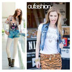Denim fashion ou print cool? A dica é apostar nas pernocas de fora para um toque de ousadia no inverno.    #OUFASHION #inverno2015 #short #minissaia
