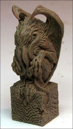 """Cthulhu miniature Sculpt of a playing piece for the game,""""The Doom That Came to Atlantic City"""" Cthulhu Art, Call Of Cthulhu Rpg, Lovecraft Cthulhu, Hp Lovecraft, Zbrush, Lovecraftian Horror, Arte Horror, Horror Art, Science Fiction Art"""