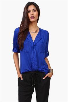 Blusa color Azul Rey
