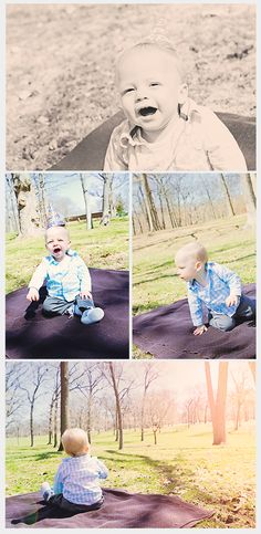 Little Boy 1 Year Outdoor Photo Session - Deanne Mroz Photography