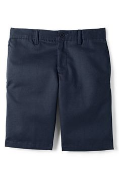 ea7e7ecae8 School Uniform Cotton Plain Front Chino Shorts