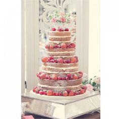 Gâteau de mariage aux fruits rouges Cake, Desserts, Food, Fruit Wedding Cake, Red Berries, Pastel, Deserts, Kuchen, Cakes