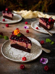 Čokoládový dort se želé   Máma peče doma Pie, Sweets, Recipes, Drawing, Food, Torte, Cake, Gummi Candy, Fruit Cakes