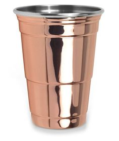 Fred & Friends Copper Party Cup: A super fun upgrade on everyone's favorite red Solo cup. So fun! Copper Cups, Solo Cup, Copper Rose, Party Cups, Drinking Glass, Shops, Just In Case, Holiday Gifts, Hostess Gifts