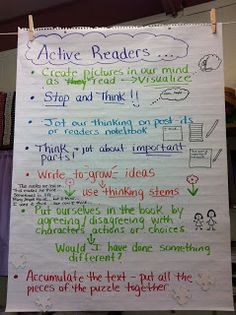 Two Reflective Teachers: reader's notebooks-Active Readers