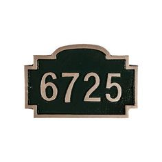 Montague Metal Products Chesterfield Petite Address Plaque Finish: Brick Red/Gold, Mounting: Lawn