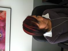 Bright Red Highlights for Fall!