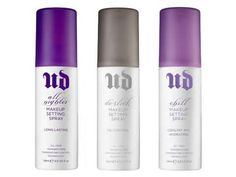 Only the best setting sprays ever! If are looking for one urban Decay is the place to get one trust me you are going to love this if you have oily skin like i do and you need something to control it I highly recommend the one with the gray top! Thsts the one I use and omg it wrks!!!!:)
