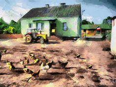 Zła Wieś Dom  Art.2016 Akwarela
