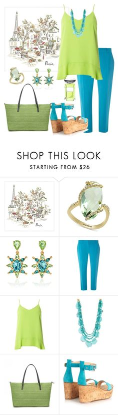 """Peridot & Topaz"" by parnett ❤ liked on Polyvore featuring Pottery Barn, Effy Jewelry, Oscar de la Renta, Dorothy Perkins, Panacea, Gianvito Rossi and By Terry"