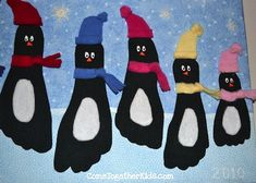 10 Winter Crafts That Kids Will Love. Penguin feet!! #ESL fun for kids.