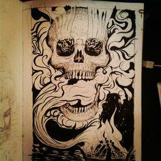 Calavera y humo #calavera #humo #craneo #skull #smoke