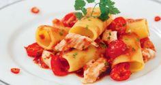 Ricetta Paccheri con scorfano e pomodorini - Ricette Semplici