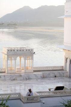 Taj Lake Palace  l  Built on a four acre island on Lake Pichola in Udaipur, India
