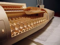 The astounding 1/60th scale Boeing 777 made out of manila folder paper  (By Luca Iaconi-Stewart.)