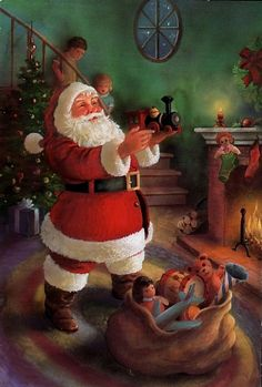 Old Christmas Post Сards — Santa Claus (607x900)