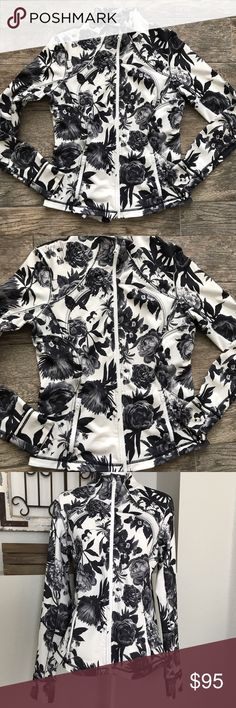 Lululemon Brisk Bloom Floral Forme Jacket Lululemon Brisk Bloom Floral Forme Jacket - Size 12. Excellent used condition. lululemon athletica Sweaters