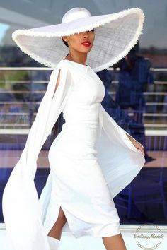 Event Dress Hat Fashion Look by kefilwe_mabote George Hats, Vetement Fashion, Wedding Hats, Event Dresses, Maxi Dresses, White Fashion, Women's Fashion Dresses, Hats For Women, Chic Outfits