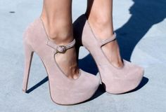 Perfect nude heels. I want a pair of heels with the ankle strap.