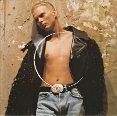 "Luke Goss on the sleeve of ""Too Much"" by Bros (1989). This was one of three sleeves. Sleeves, Fashion, Moda, La Mode, Fasion, Fashion Models, Trendy Fashion"