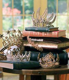 Vintage tiara collection belonging to Dayton's consultant Wendy Lubuvitch. (Photos courtesy Tom Wallace, Minneapolis Star-Tribune)