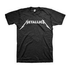 Metallica Black And White Logo T-Shirt - Represent Metallica with this Black and White Logo T-Shirt, a classic featuring the simple, yet iconic, Metallica logo.
