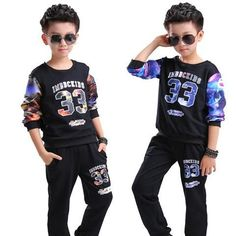2018 boys Tracksuit Clothes Print set Kids Autumn Cotton School Uniform Sport Suit 6 8 10 12 14 16 year - baby and beyond Baby Boy Outfits, New Outfits, Kids Outfits, Persnickety Clothing, Clothes 2018, Party Clothes, Sports Hoodies, Outfit Sets, Types Of Sleeves