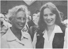 Kate ter Horst and Liv Ullmann while shooting for A Bridge Too Far Operation Market Garden, Military Operations, Paratrooper, D Day, World War Two, Ww2, Holland, Army, Medical