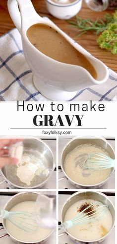 How to make Gravy: Learn how to make gravy with this easy homemade Gravy Recipe made from scratch that is perfect for your mashed potatoes, steaks and fried chicken. It never gets easier than this! This is one of the first posts I have ever Fried Chicken Gravy, Homemade Chicken Gravy, Homemade Gravy Recipe, Chicken Steak, Homemade Sauce, Gravy For Chicken, Brown Chicken Gravy Recipe, Recipe For Gravy, Southern Brown Gravy Recipe