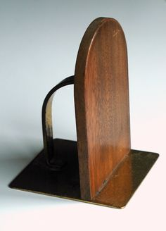 Image of A pair of modernist bookends by Ruppelwerk, the design attributed to Marianne Brandt, c.1932