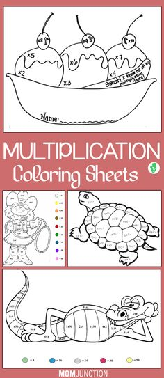 Top 10 Multiplication Coloring Sheets To Make Your Toddler Learn