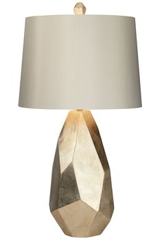Faceted and finished to bring opulence home, the Pacific Coast Lighting Avizza Table Lamp embraces modern style. This table lamp is topped with. Luz Natural, Estilo Kitsch, Bedroom Furniture Inspiration, Geometric Lamp, Buffet Lamps, Table Lamps, Desk Lamp, Light In, Up House