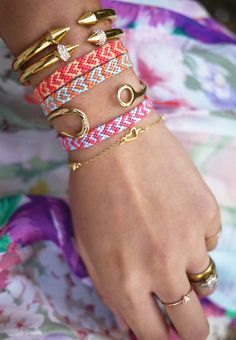 Heart friendship bracelet - DIY