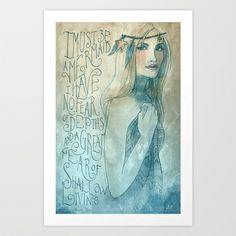 I must be a mermaid Art Print by Biljana Kroll