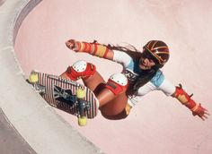 Rad Judi Oyama frontside grind 1970's. Glad to have skated w/her all these years. skateboarding. skater girls